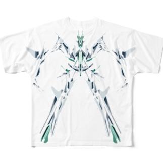 細身ロボット フルグラフィックTシャツ