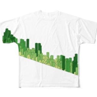 時代は3D芝 フルグラフィックTシャツ