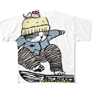 ちゃらねこ フルグラフィックTシャツ