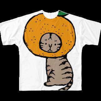 ほっかむねこ屋@7/22.23 HMJ出展しますのみかんかぶりねこフルグラフィックTシャツ