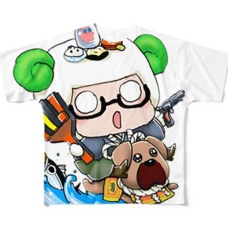 #ひつじです 高知に行ってきました フルグラフィックTシャツ