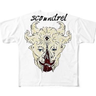 スカウンドレル Full graphic T-shirts