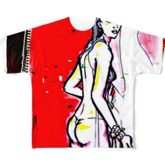 back フルグラフィックTシャツ