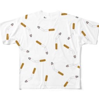 Cigarette butt フルグラフィックTシャツ