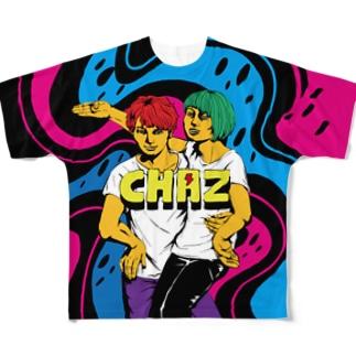 CHAZ フルグラフィックTシャツ