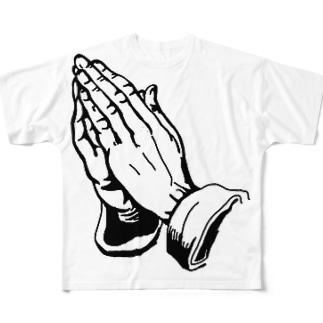 Praying Hands Full graphic T-shirts