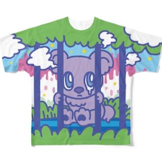 檻越しのチェブアニマル  フルグラフィックTシャツ