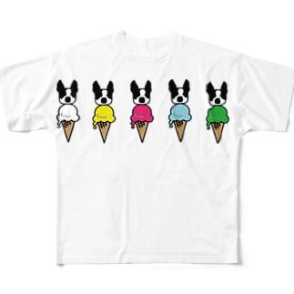 あいすぼすとん フルグラフィックTシャツ