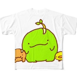 まめもやしまめもダイカットTシャツ Full graphic T-shirts