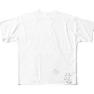 手紙を追いかけるヤギさん Full graphic T-shirts