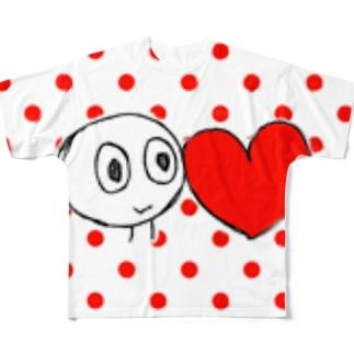 shirotaro-はーと- Full graphic T-shirts