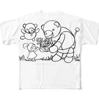 ロボクマ フルグラフィックTシャツ