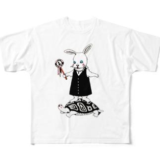 努力を怠らない フルグラフィックTシャツ