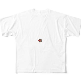 ねこたこ フルグラフィックTシャツ