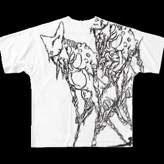 nakamura chingのなんかのつがいフルグラフィックTシャツ