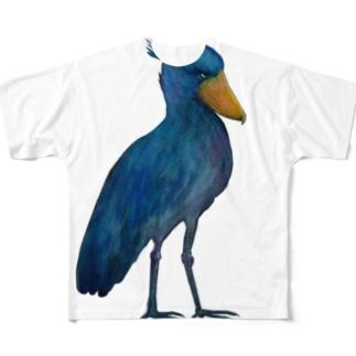 Shoebill Full graphic T-shirts