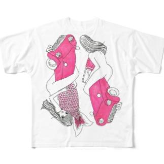 ユーのカー フルグラフィックTシャツ
