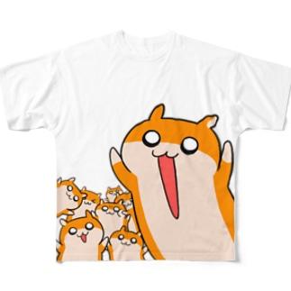 大きなクソハムちゃん フルグラフィックTシャツ