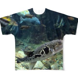 フグとその仲間たち フルグラフィックTシャツ