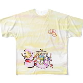 白蛇七福神 Full graphic T-shirts
