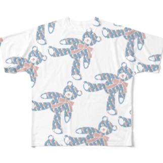 〈 naminada 009/365 〉テディベア好きのためのSAME フルグラフィックTシャツ