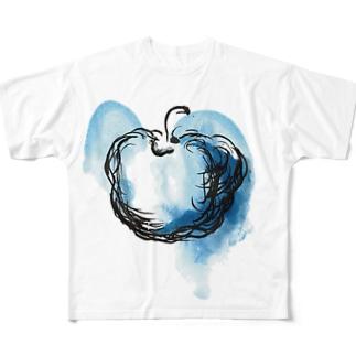 Blue apple Full graphic T-shirts