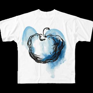 eauのBlue apple Full graphic T-shirts