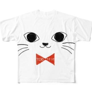 ニャー太 フルグラフィックTシャツ