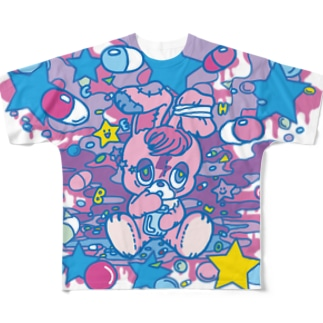 病み月のうさぎ Full graphic T-shirts