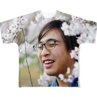 桜と僕 フルグラフィックTシャツ