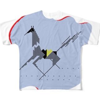 うまオオカミ フルグラフィックTシャツ