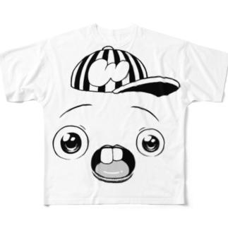 さちおくんの顔の絵 Full graphic T-shirts