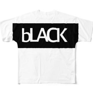 bLACK ロゴ フルグラフィックTシャツ
