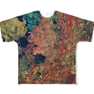 木々 その2 フルグラフィックTシャツ