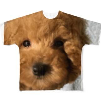 トイプードル フルグラフィックTシャツ