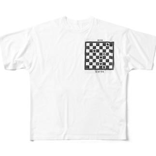 チェス盤 フルグラフィックTシャツ