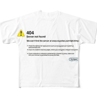 404 not found フルグラフィックTシャツ