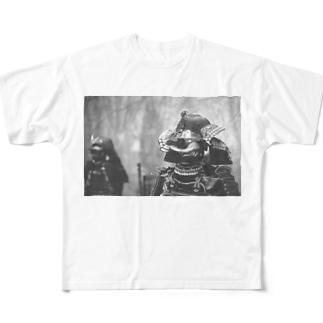 武士 フルグラフィックTシャツ