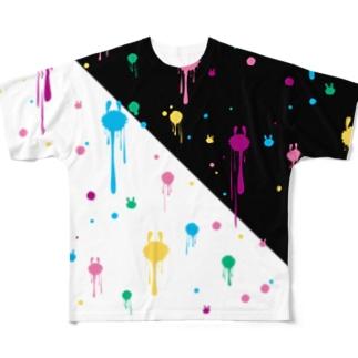 とけうさ フルグラフィックTシャツ