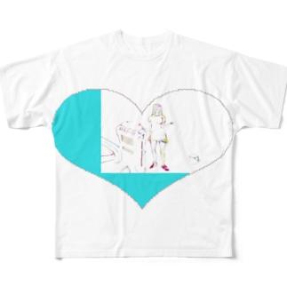 女の子Tシャツ フルグラフィックTシャツ