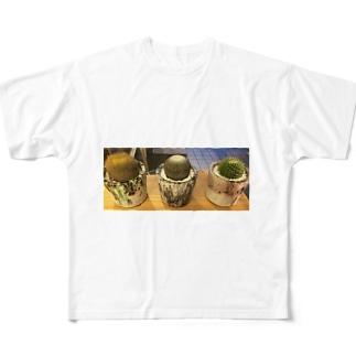 さぼてん フルグラフィックTシャツ