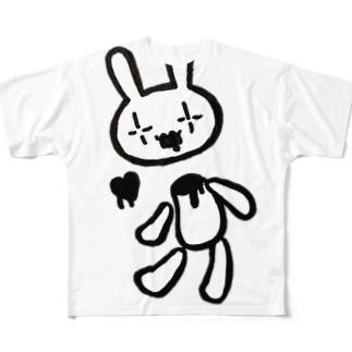 壊れたトランスラビット フルグラフィックTシャツ