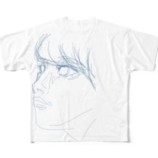 線少女(青) フルグラフィックTシャツ