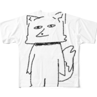 チベットスナギツネ(シュール) Full graphic T-shirts