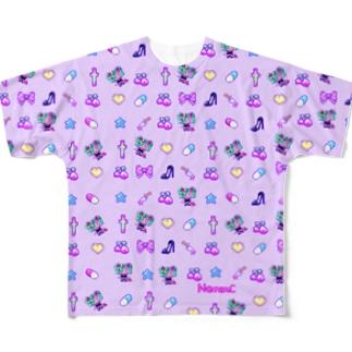 あぁちゃまのゆめかわ8bit パープル Full graphic T-shirts