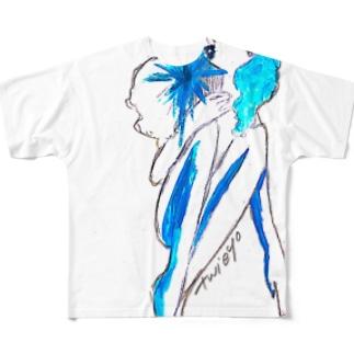 アイスガール Full graphic T-shirts