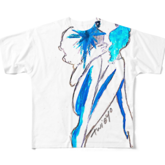 ついえよのアイスガールフルグラフィックTシャツ