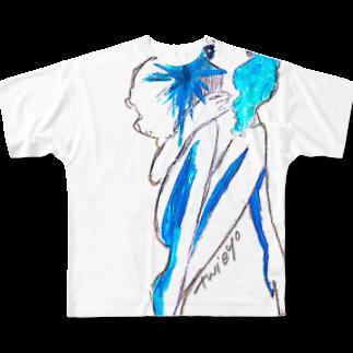 ついえよのアイスガール フルグラフィックTシャツ