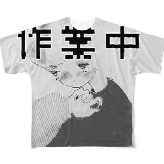 サギョーガール フルグラフィックTシャツ