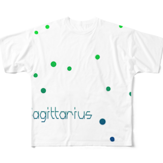 neoacoのSagittarius -12 ecliptical constellations- フルグラフィックTシャツ